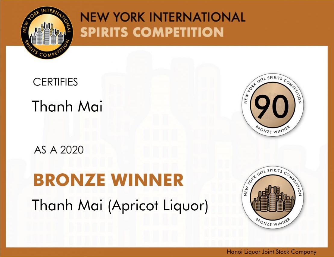 Giải Đồng dòng sản phẩm rượu màu cho sản phẩm <br> Rượu Thanh Mai