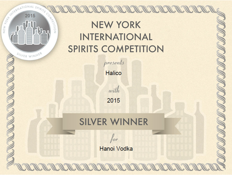 Silver Medal - Vodka of The Year