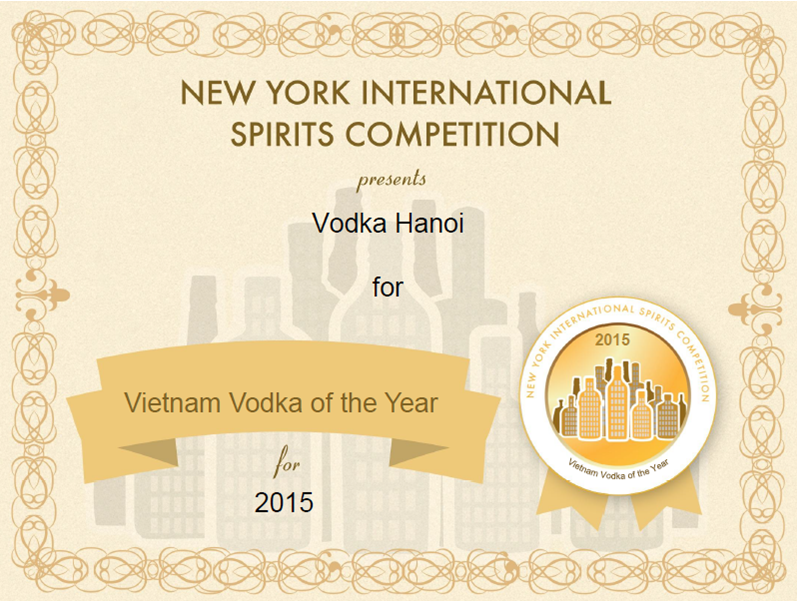 Gold Medal - Vietnam Vodka of The Year