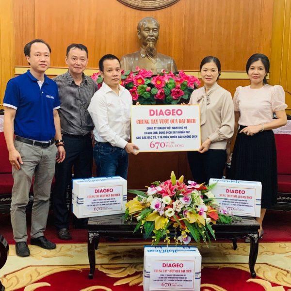 Diageo Việt Nam Chung tay vượt qua đại dịch Covid-19